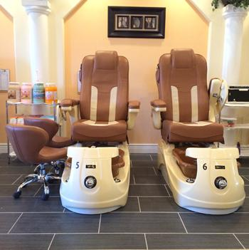 Massage chairs for pedicures